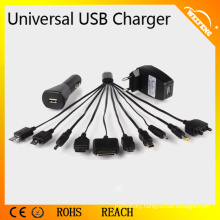 High Performance one in ten Universal USB Charger for Smartphones Used In Car/ Home WF-114