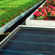 Tissu de haute qualité de barrière de mauvaise herbe de prix usine, tissu noir tissé par polypropylène