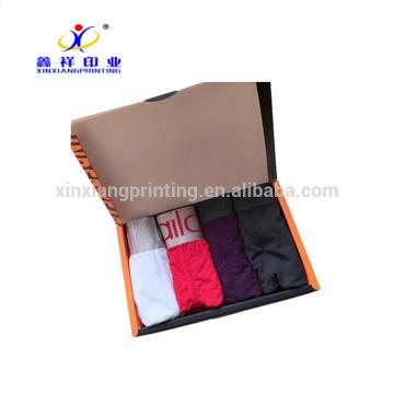 Подгонянные цветы!Нижнее белье бумаги мужская черная Упаковка складные коробки коробки