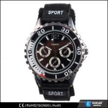 fashion nylon strap watch band, sport buckle watch