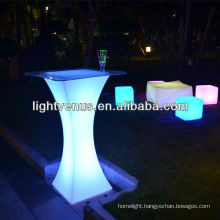 Bar table with light