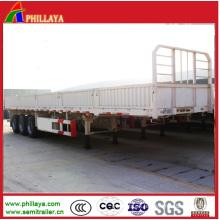 High Side Wall Cargo Bulk Trailer with Platform Loading Deck