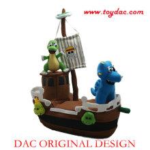 Plush Pirate Ship Toy