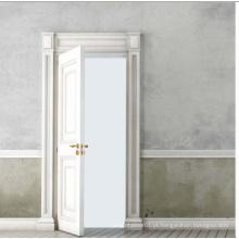 White Color Classical Design Porta de madeira sólida