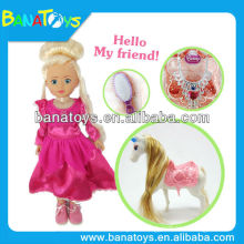 14 inch beautiful small plastic horse toys for girls