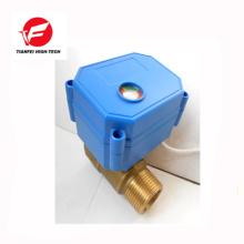 3.6v 5v 6v 230v dn8 dn10 latón ss304 CWX-15N 2nm válvula eléctrica