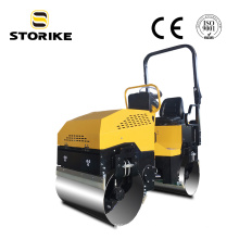 Rodillo compactador de pavimento hidráulico vibrante de 1,5 toneladas