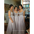 Wholesale - 2014 Custom Made Prom Dresses Top Selling A-line Cap Sleeves Backless Floor-Length Chiffon Bridesmaid Dress Evening