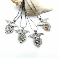 Tatlısu İnci Locket Dragon Pandantif Kolye