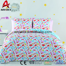 Stock fabric polyester 7pcs microfiber comforter set with pigment printing