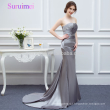 100% Real picture Gray Mermaid Prom Dresses 2018 Latest Design Sweetheart Gorgeous Prom Party Gowns Vestidos de Noiva