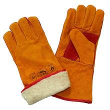 Кожаные сварные перчатки с полной футеровкой Boa