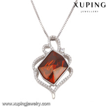 43089 Fashion Elegant Crystals From Swarovski Rhodium Imitation Jewelry Pendant Necklace