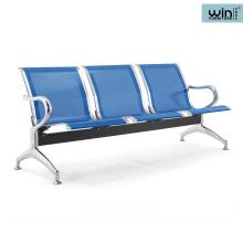 Chaise d'aéroport à cadre en métal moderne