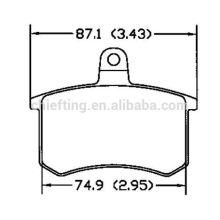 Auto spares parts D306 0060 743 565 for Audi Fiat auto brake pad