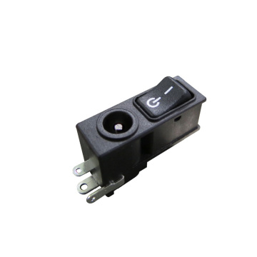 Interruptores Rocker DC Power Jack SPST