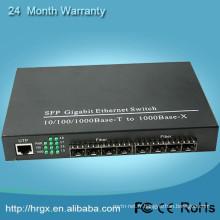 Commutateur de sfp de gigabit de l'équipement 8 de fibre optique d'original avec le convertisseur d'Ethernet de rj45 de 1 canal