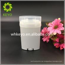 Weißer weißer leerer kosmetischer Verpackungsdeodorantstockbehälter des weißen Verkaufs des Verkaufs 65g
