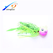 RJL015 cebo de pesca sin pintar señuelo jigging señuelo plantilla de goma