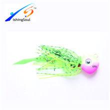 RJL015 Fishing bait unpainted lure jigging lure rubber jig
