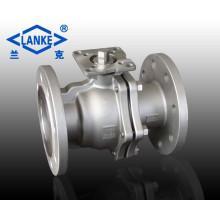 2PC Stainless Steel High-Platform Floating Flange Ball Valve