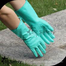 SRSAFETY 2014 новая зеленая промышленность нитрил более длинные перчатки