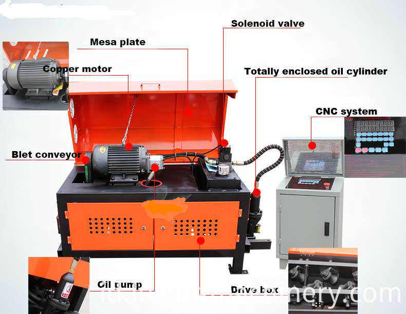 Reinforce Steel Bar Straightening Cutting Machine Detail