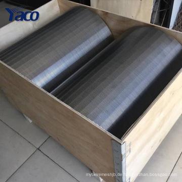 Umkehrkeildraht-Drehtrommelschirm für Zuckermühle Außendurchmesser 30cm-120cm