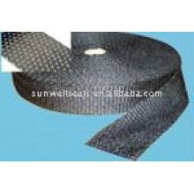 Carbon fiber tape coated with aluminium