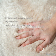 100% polyester microfiber pure silk round table mat nice 100% polyester microfiber absorb water carpet