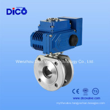 ANSI CF8m Wafer Ball Valve with Electric Actuator