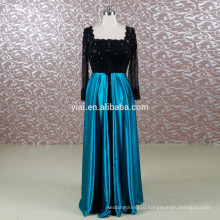 RSE647 Black And Peacock Blue Chinese Wedding Dress Tall Mother Of The Bride Lace Dresses Beach Wedding Dress Navy Blue
