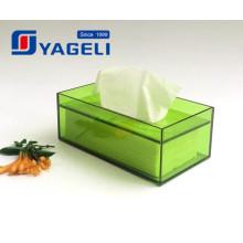 Porte-serviette rectangulaire en acrylique fabriqué en usine