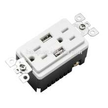 BAS15-2USB Wide ranged usb outlet wall power socket