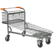 Hand Push Trolley for Shopping with 4 Wheels