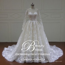XF16157 newest design of ball gown wedding dress 2017 long sleeves fashion bridal gowns for wedding