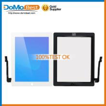 Marca precios de fábrica nueva para iPad 3 Touch, para el iPad 3 pantalla táctil digitalizador en stock negro y blanco acepta PayPal