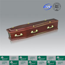 Sapele Paper Veneer Coffin