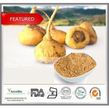 Approvisionnement d'usine en gros 100% poudre d'extrait de Maca naturelle 20: 1 en vrac Lepidium meyenii