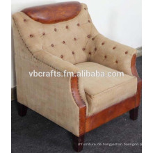 Segeltuch-lederner Sofa-Couch europäischer Entwurf