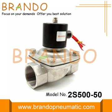 2 Inch 2S500-50 Katup Solenoid Stainless Steel 24VDC