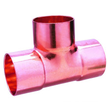ASME Conexión de soldadura estándar Agua Plomería Cobre Tee CxCxC