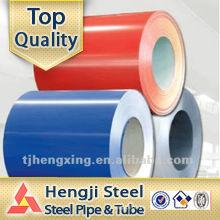 Bobina de acero prepintada con bobina de acero galvanizada en color
