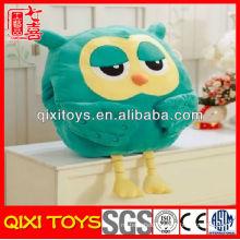 Fashion design top quality plush owl travel pillow