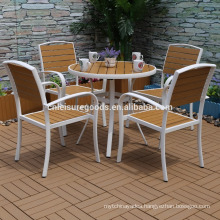 2017 new model aluminium outdoor polywood furniture set with 5pcs