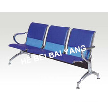 (D-10) Plastic-Sprayed Waiting Chair with Punched Steel Plate