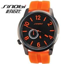 Unisex rubber band SHINOBI relojes MEN silicone jelly watch