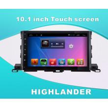 Sistema de Android DVD GPS Car Video para Highlander 10,1 pulgadas de pantalla táctil con WiFi / Bluetooth / TV