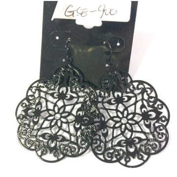 Metal Lace Hollow Earring for Lady