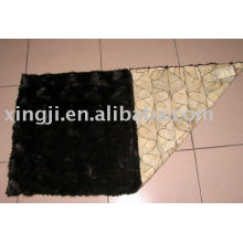mink front paw fur plate